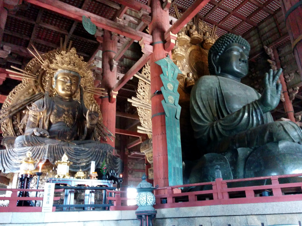 photo credit: Great Buddha and pretty good buddha, Nara, Japan via photopin (license)