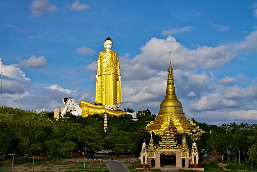 Monywa Buddhas, Myanmar. photo credit: Bodhi Tataung via photopin (license)
