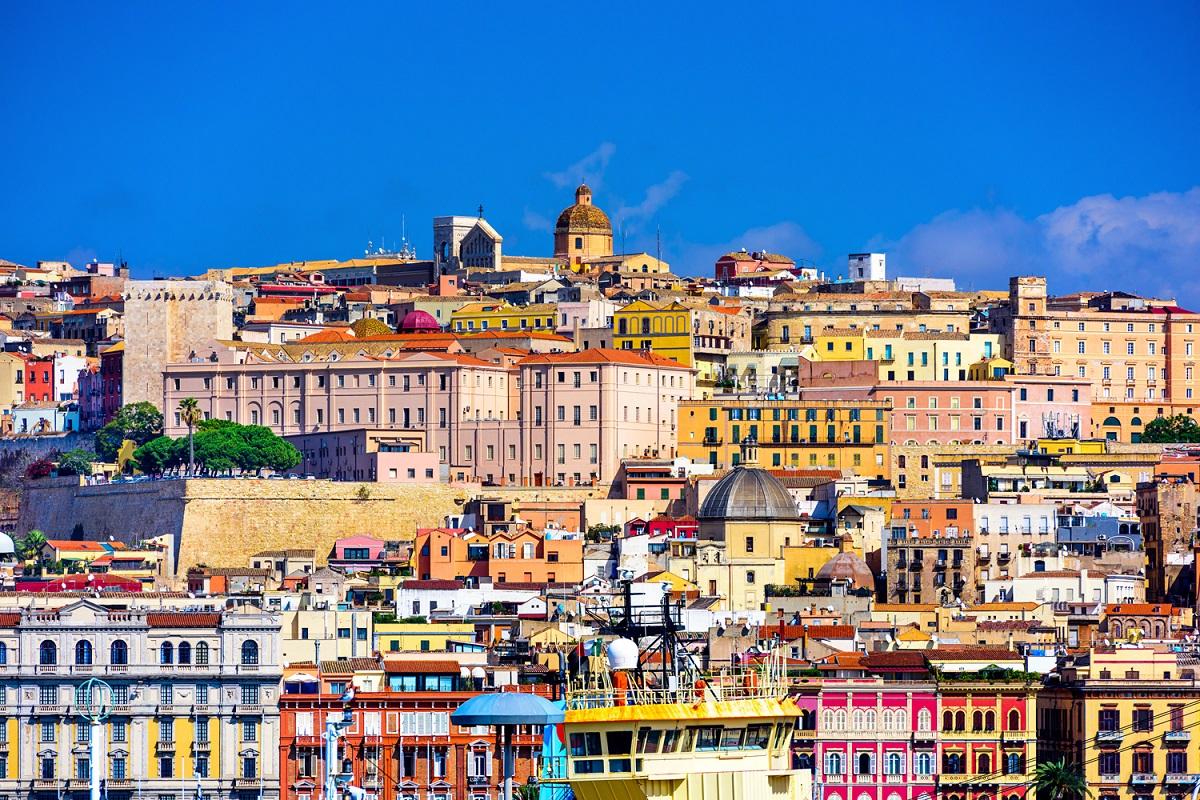 Cagliari skyline