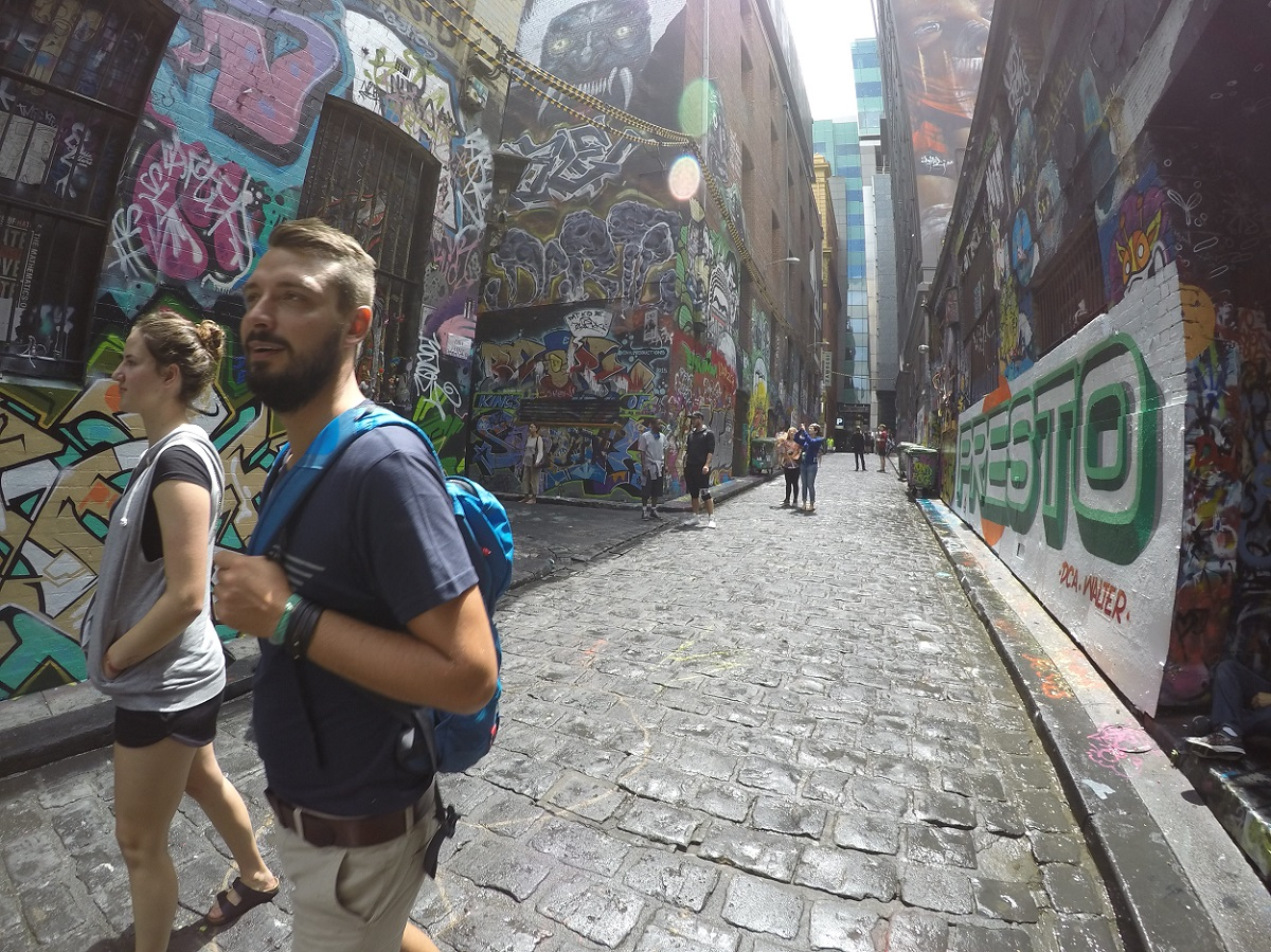 Hosier Lane is covered top to bottom with wild street art