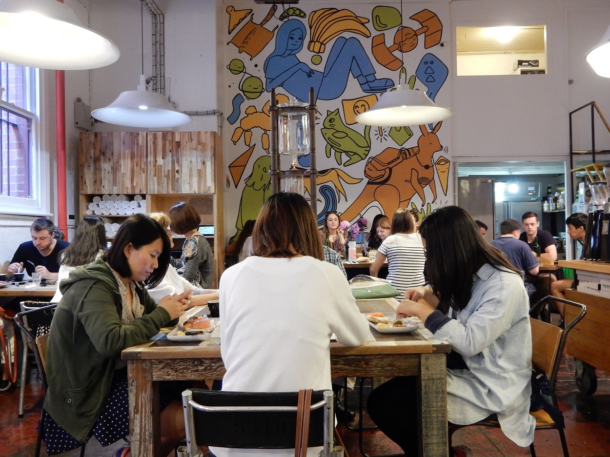Manchester Press offers lots of indoor seating to enjoy coffee, eat and do some work