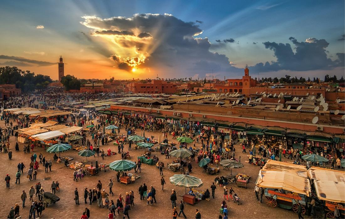 Jemaa El Fna, Marrakech. Morocco.