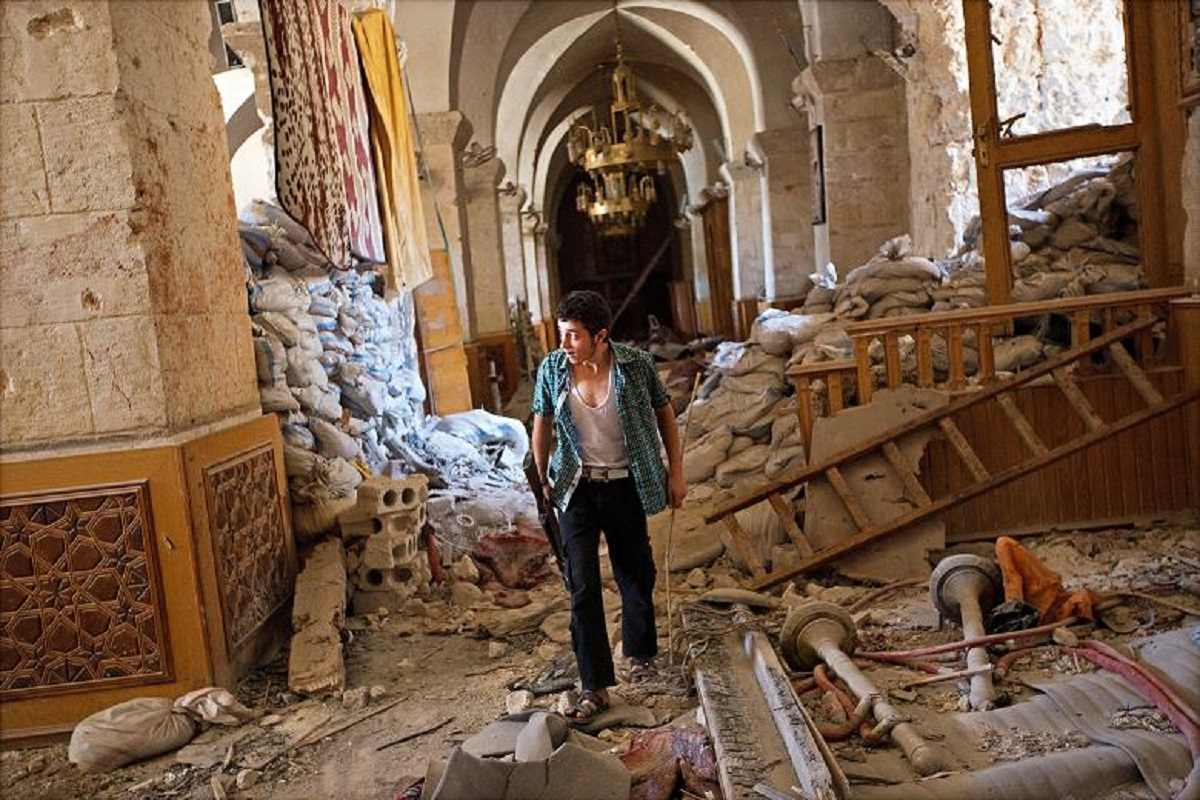 Great Mosque of Aleppo Destroyed By War