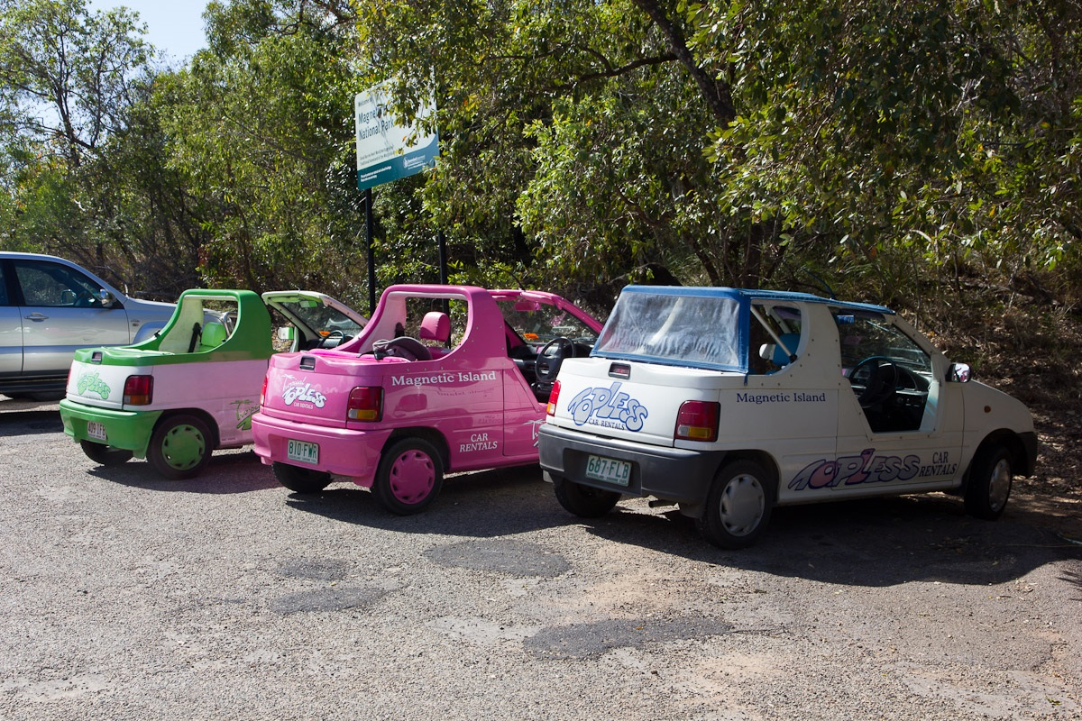 The Topless and Moke Cars colorful and fun ways to get around the island