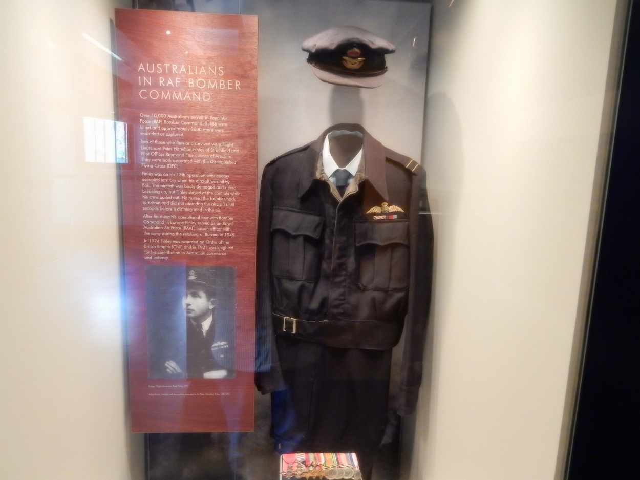 The museum displays artifacts from soldiers like this uniform