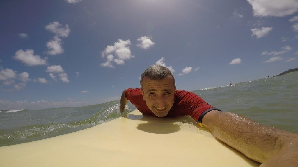 First surfing lesson. Tip: leave your GoPro at home. Very hard to surf and hold camera same time.