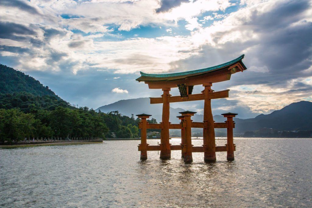 Miyajima is famous for its floating torii gate that stands alone in the sea. photo credit: Miyajima Island via photopin (license)
