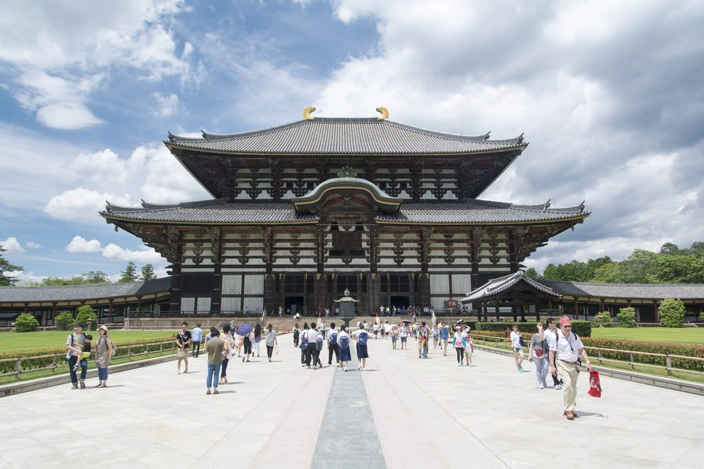 Todaiji Temple In Nara photo credit: Todai-ji, Nara 東大寺金堂 via photopin (license)