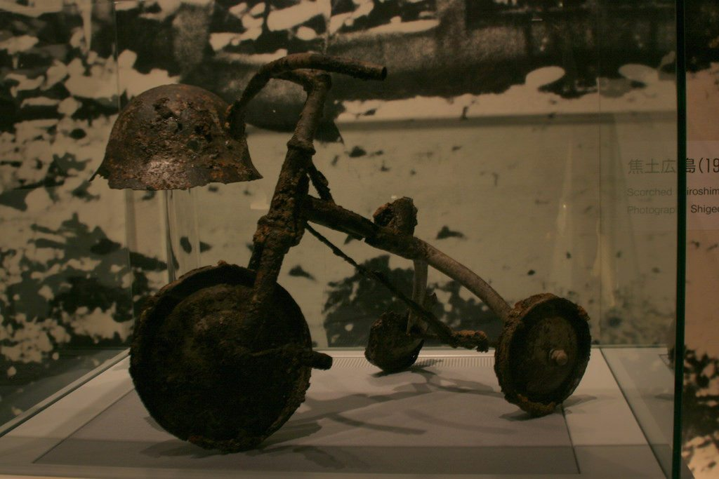 Hiroshima Museum humanizes the bombing by sharing stories and personal artifacts from victims photo credit: kids tricycle via photopin (license)