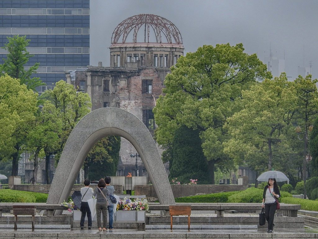 Hiroshima Park is dedicated to the memories of the bomb's direct and indirect victims. photo credit: Hiroshima Peace Park via photopin (license)