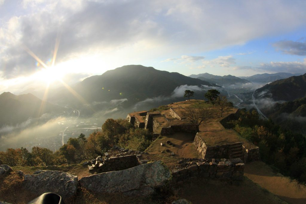 """Known today as """"Japan's Machu Picchu"""" is a steep climb from the train station but well worth the effort. photo credit: takeda castle via photopin (license)"""