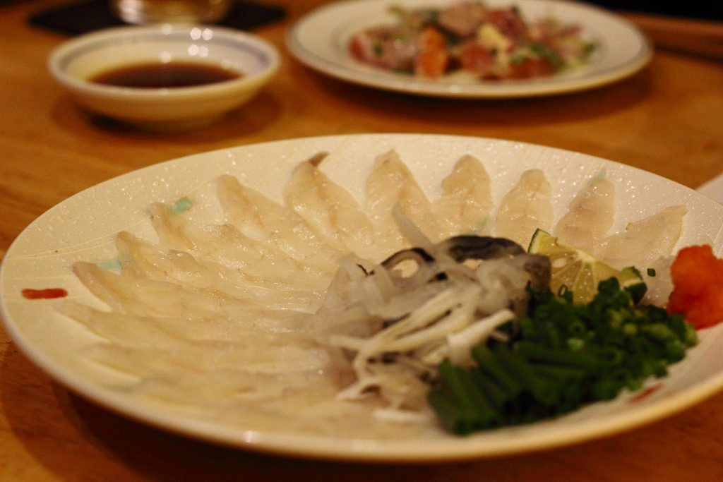 Fugu is a notorious dish which is prepared from potentially poisonous puffer fish. photo credit: Fugu via photopin (license)