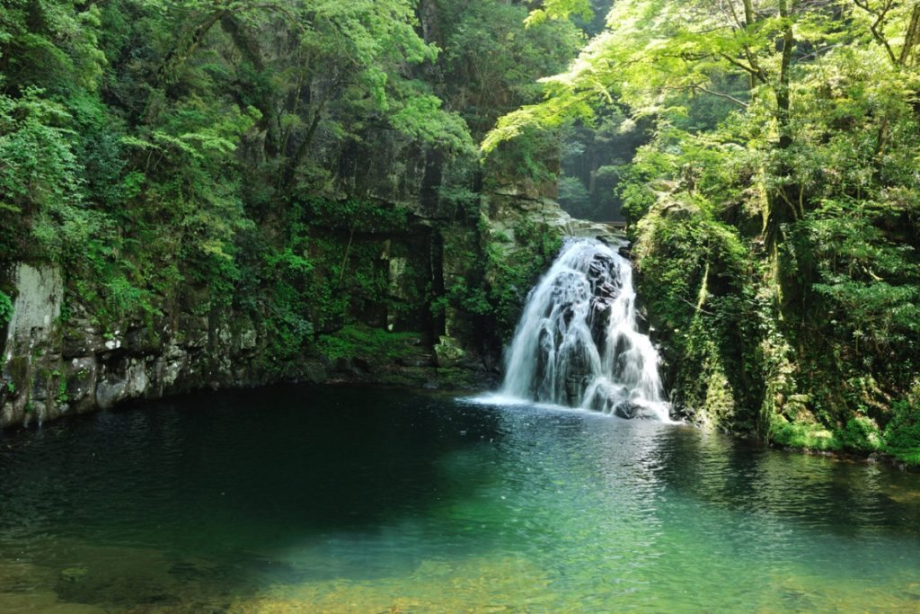 48 Waterfalls of Akime are a collection of beautiful waterfalls