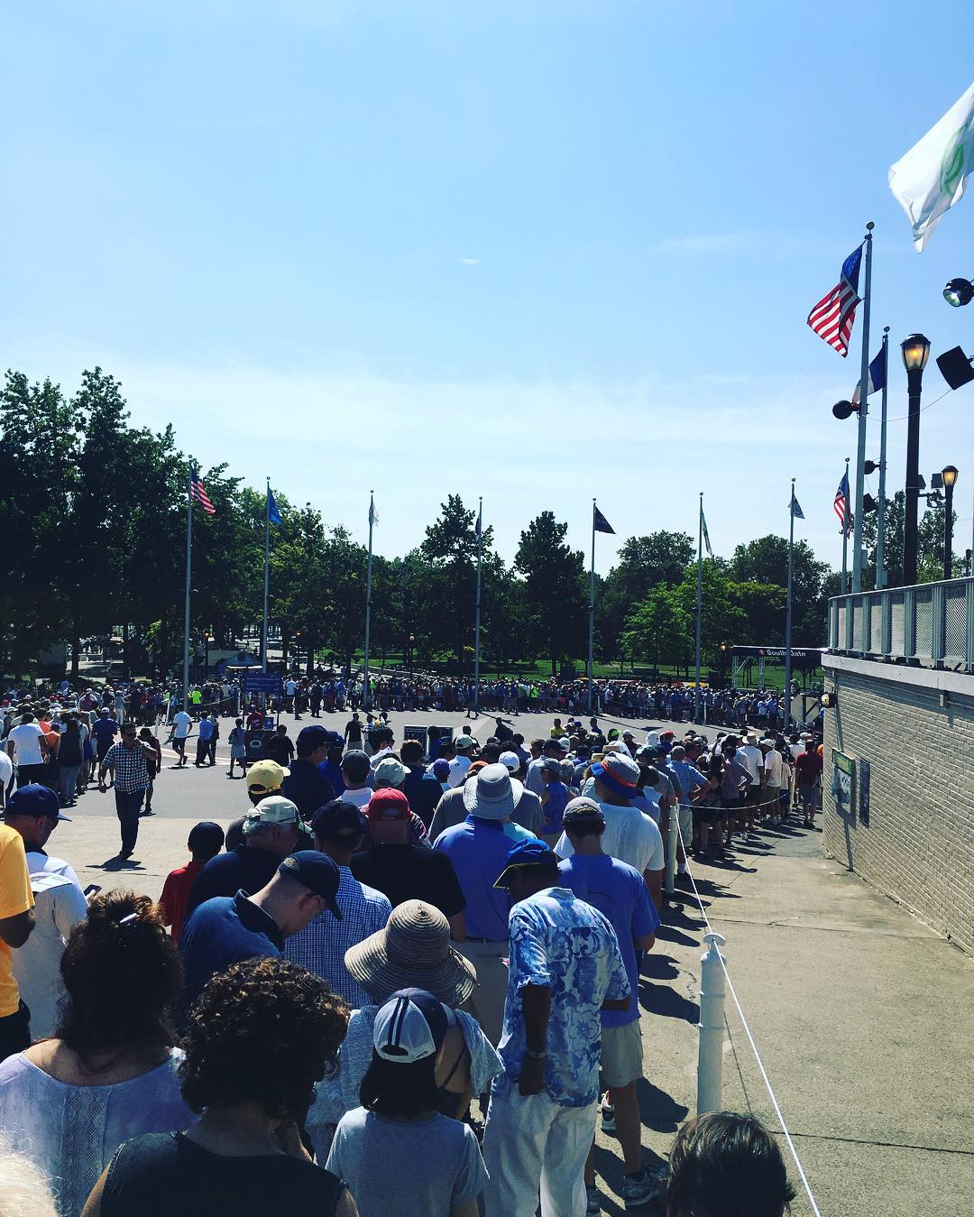 The line into the US Open was horrific the day I attended. I waited 30 minutes in the hot sun to pass the check in gates.