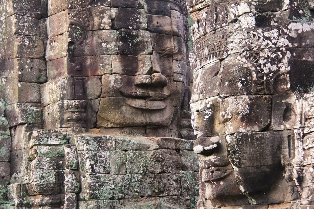 Bayon Temple faces follow you wherever you go