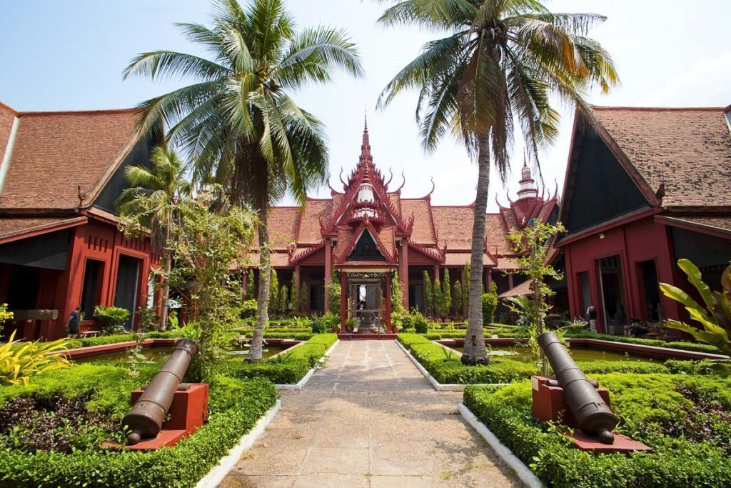 Courtyard Inside The National Museum of Cambodia, Phnom Penh, Cambodia