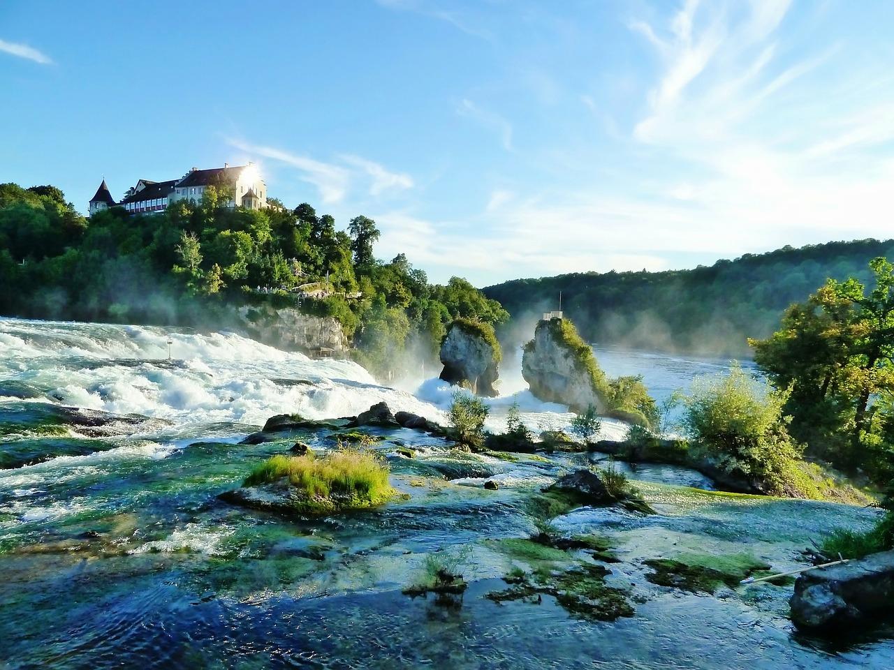 Switzerland waterfalls are stunningly beautiful